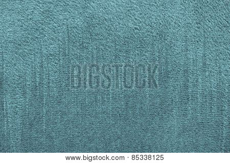 Textile Texture Of Turquoise Color