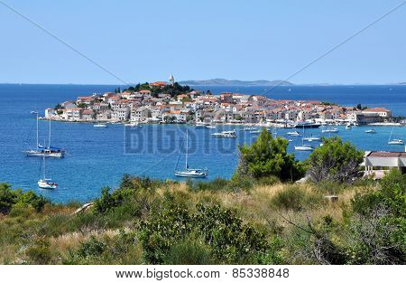 Primosten. A Small Town On The Island. Croatia