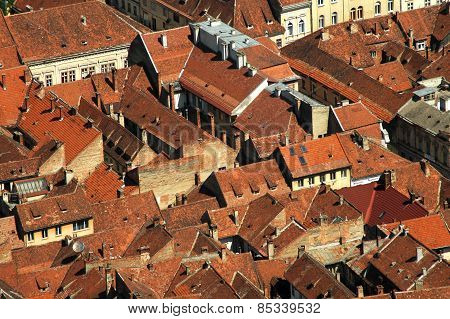 City Rooftops Of Brasov, Romania