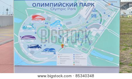 Map of Sochi Olympic Park