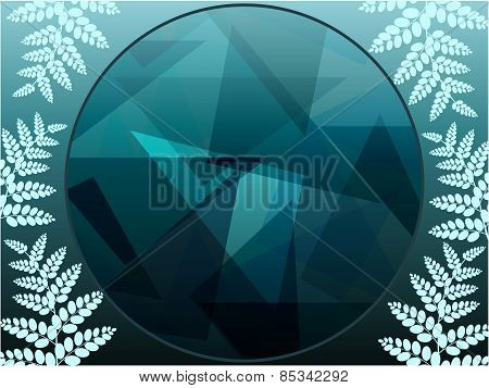 Foliage geometric background
