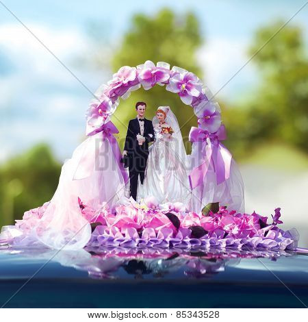 Wedding Miniature Figurines Of The Bride And Groom, Bridal Decorations