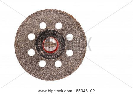 The Metal Cutting Wheel  On The White Background