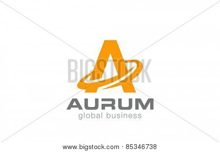 Letter A Logo design. Vector template.