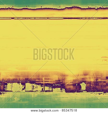 Vintage textured background. With different color patterns: yellow (beige); brown; purple (violet); green