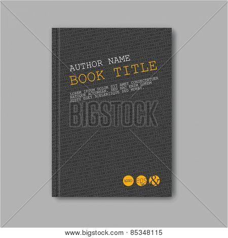 Modern Vector abstract brochure / book / flyer design template - dark version