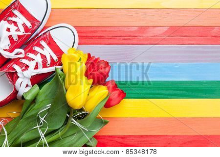 Bouquet Of Tulips And Gumshoes