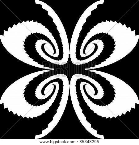 Design Monochrome Decorative Butterfly Silhouette