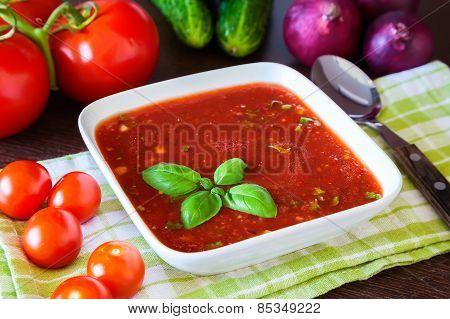 Gazpacho With Basil