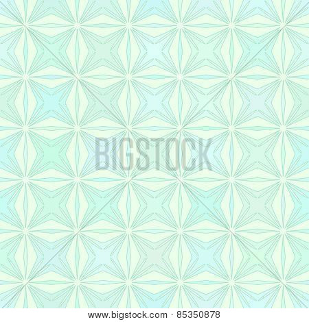 Abstract vector background Geometric Seamless pattern Pastel turquoise colors