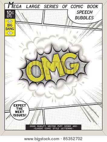 Series comics speech bubble