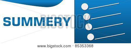 Summary Blue Horizontal