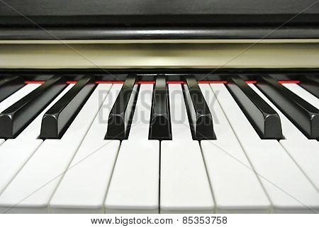 Close-up Piano Keys.