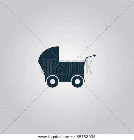 Buggy web icon on a gray background
