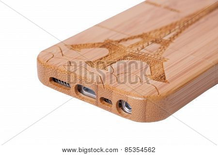 Case for smartphone. For mobile phone iphon, on a white background