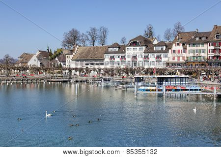 Rapperswil, View On The Seequai Quay