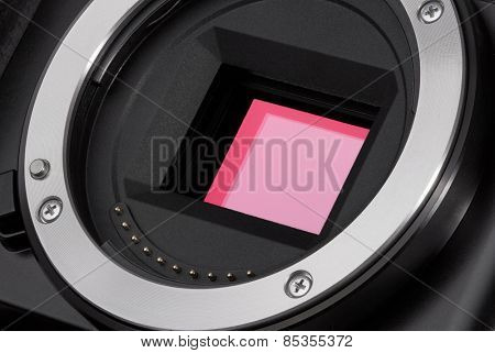 Closeup of camera image sensor