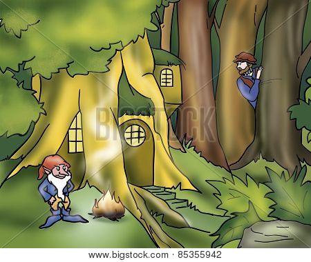 Rumpelstiltskin in the wood