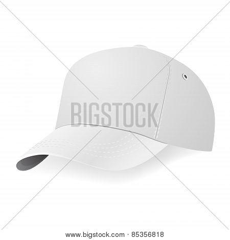 White Baseball Cap Template