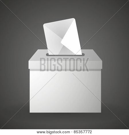 Ballot Box With An Envelope