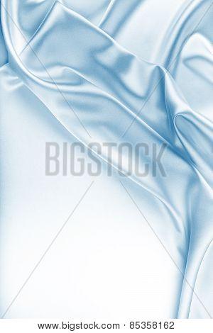 Blue Silk Fabric Texture