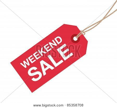 weekend sale sign