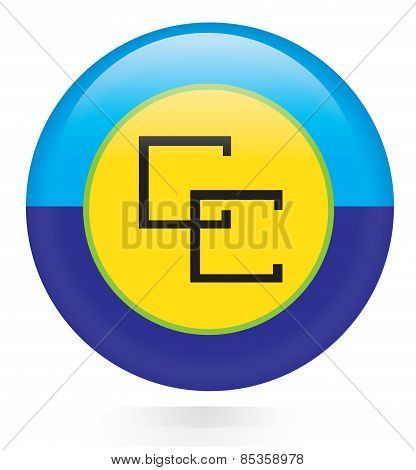 Caribbean Community (CARICOM) flag button