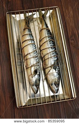 Mackerel Fish Ready For Smoke-dried
