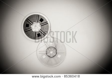 Vintage 8Mm Movie Reels Sepia Black And White
