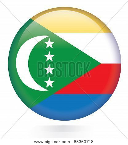 Comoros flag button