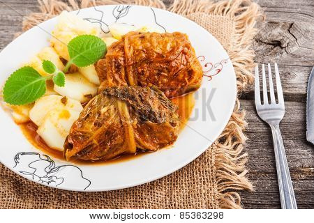 Stuffed Cabbage Dish..stuffed Cabbage Dish.stuffed Cabbage Dish..