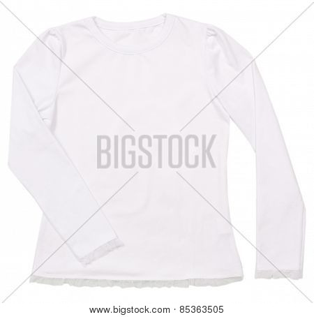 Girl's blouse isolated on white background