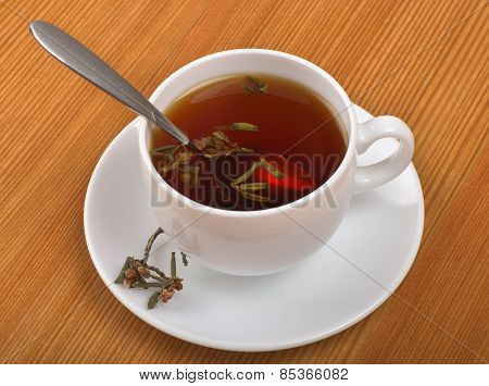 Curative Tea Drink With Rhododendron Adamsii