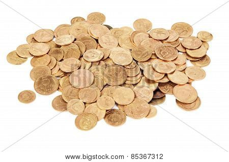 Ussr Old Coins Isolated On White