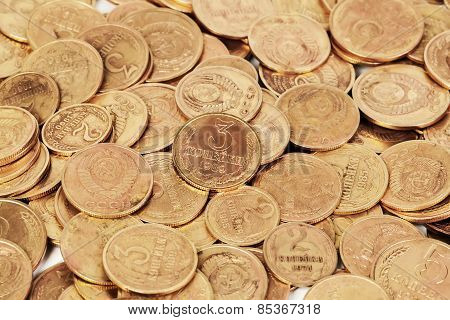 Ussr Old Dirty Coins Background