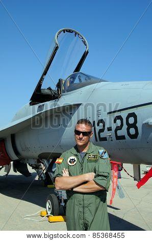 Pilot and F/A-18 Hornet.