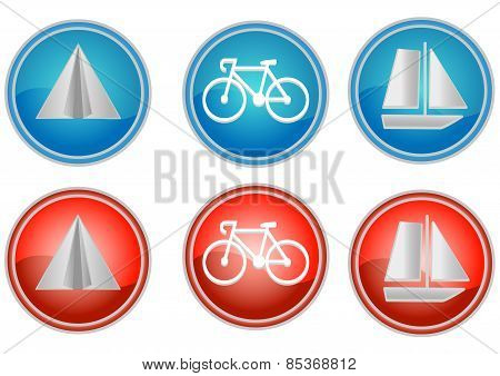 round travel icons