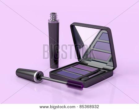 Mascara And Eye Shadow