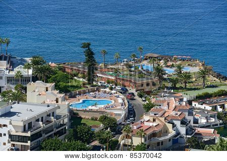 Coast Near Avenue Jose Gonzalez Forte In Los Gigantes, Tenerife.