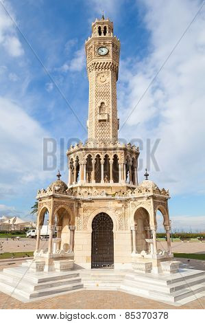 Konak Square View With Historical Clock Tower, Izmir, Turkey