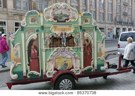 Street Organ In Amsterdam Centre