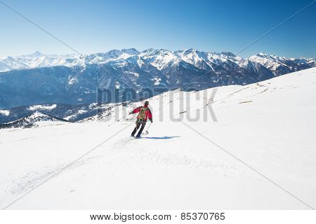 Skiing On The Majestic Italian Alpine Arc