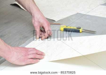 Glueing Wallpaper