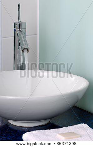 Bathroom sink bowl counter tap mixer towel soap