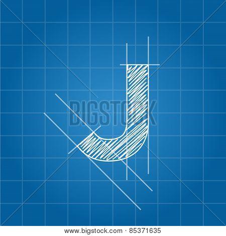 J letter architectural plan