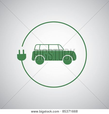 Electric Vehicle / Eco Friendly Car Icon Design Template