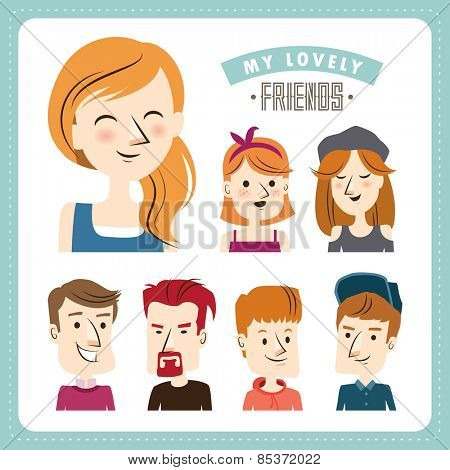 Friends. People character design.