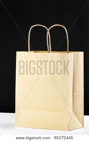 Blank Brown Shopping Bag