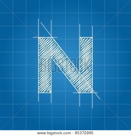 N letter architectural plan