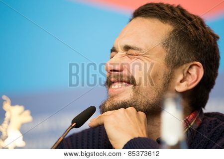 BERLIN, GERMANY - FEBRUARY 06:  Actor James Franco. Press conference during the 65th Film Festival at Hyatt Hotel February 6, 2015 in Berlin, Germany